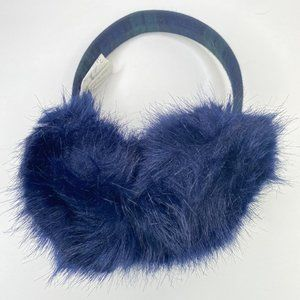 J. CREW Blue Earmuffs with Plaid Headband